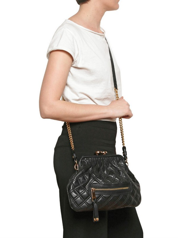 Marc Jacobs Little Stam Quilted Leather Shoulder Bag In