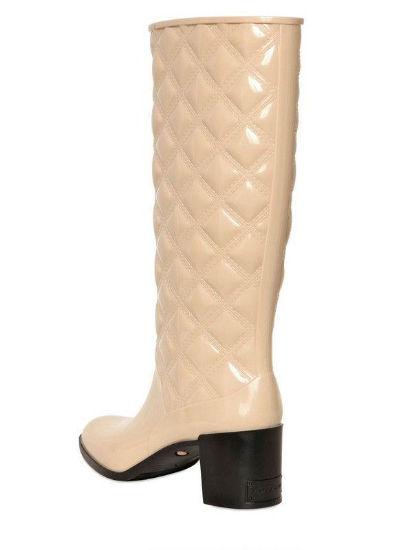 ae85c5592ef Lyst - Marc Jacobs 60mm Patent Pvc Quilted Pvc Boots in Natural