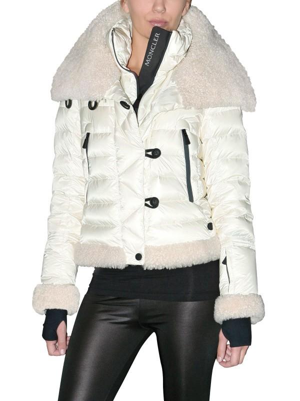 0acad3000 Moncler Grenoble Natural Altes Shearling Nylon Down Jacket