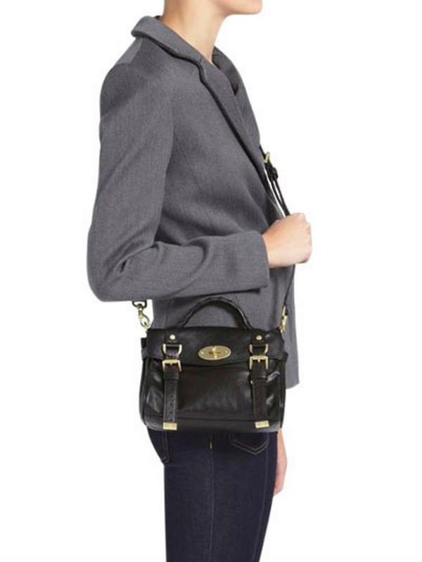 Lyst - Mulberry Mini Alexa Soft Buffalo Satchel in Black 58981412933c2