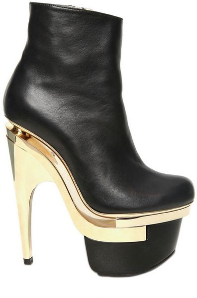 Versace 160mm Leather Boots in Black