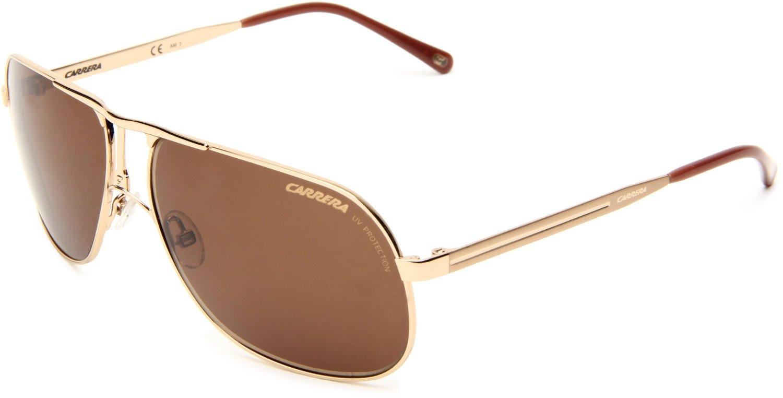 Polaroid Gold Frame Sunglasses : Carrera Carrera 2s Polarized Navigator Sunglasses in Gold ...