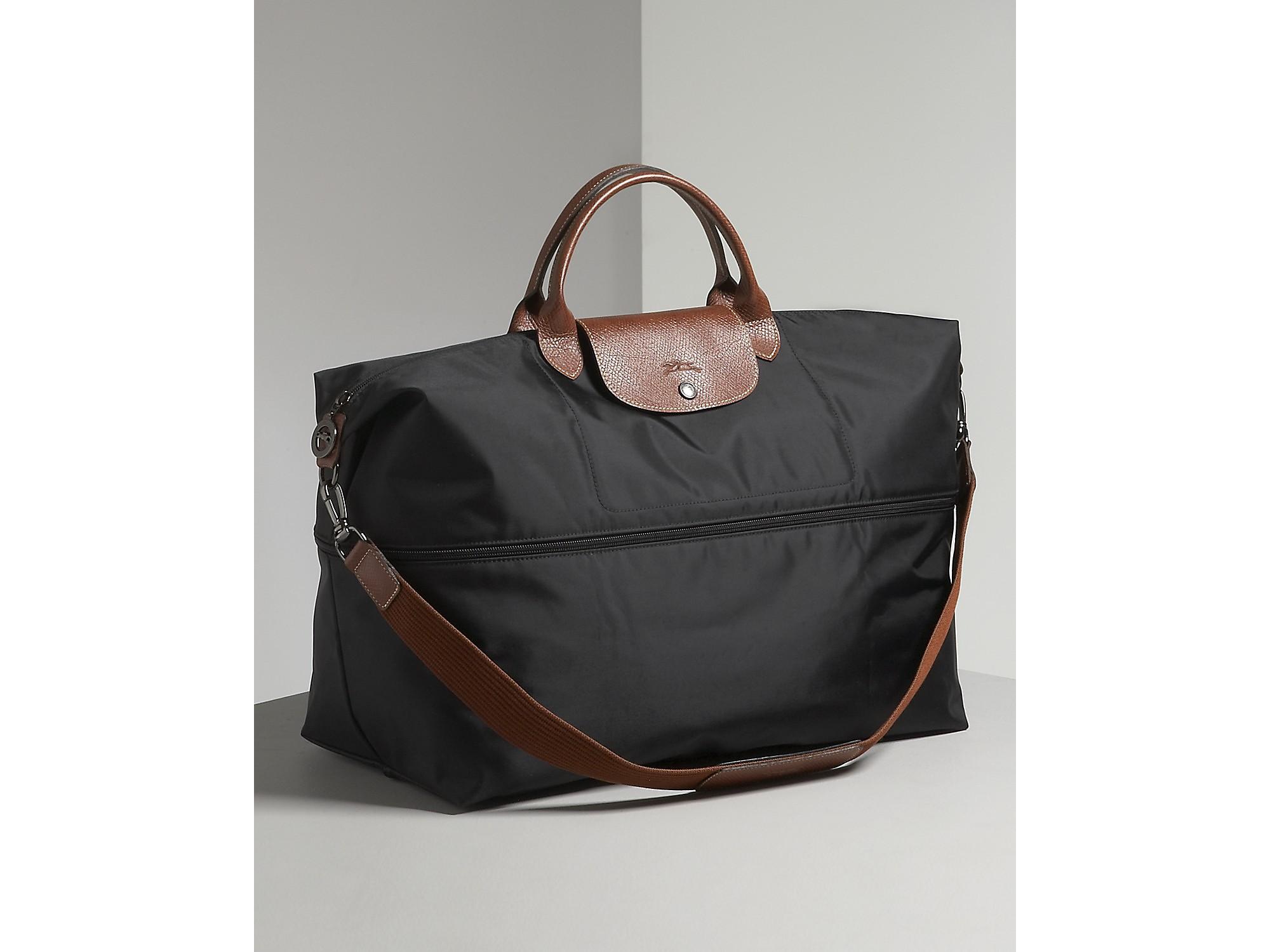 a52d37cc8d83 Longchamp Le Pliage Expandable Travel Tote in Black - Lyst
