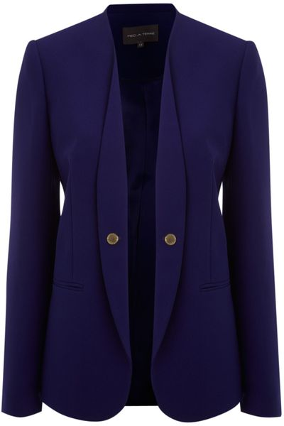 Pied A Terre Skinny Lepel Jacket in Blue (royal)