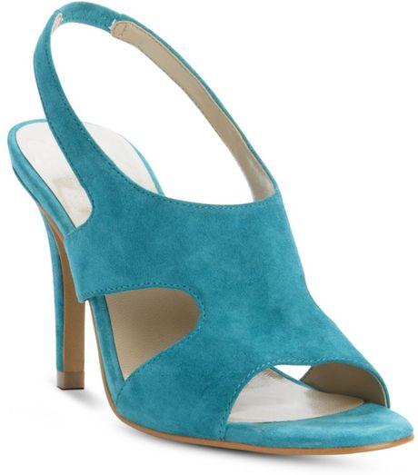tahari high heel sandals in blue turquoise lyst