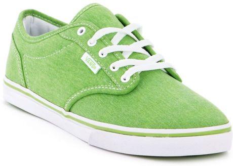 Vans Atwood Low Sneakers in Green neon green #2: vans neon green atwood low sneakers product 1 large flex