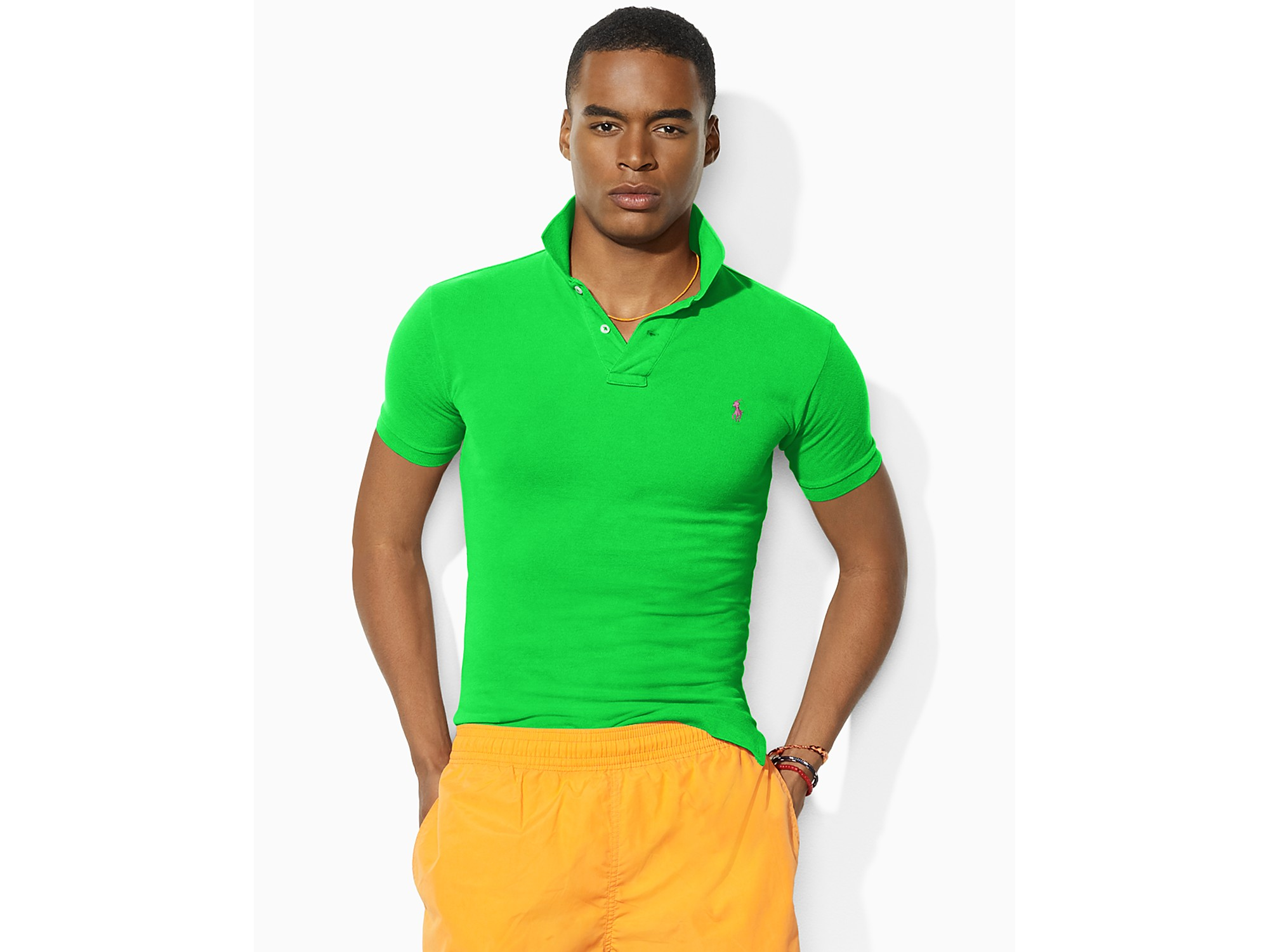 ... Polo Ralph Lauren Green Black Breathable Short Sleeved