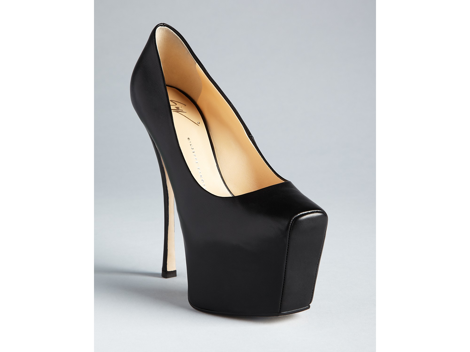 45e766dbb0d3 ... where to buy lyst giuseppe zanotti high heel platform pumps ambra in  black 0ae45 4f9ce
