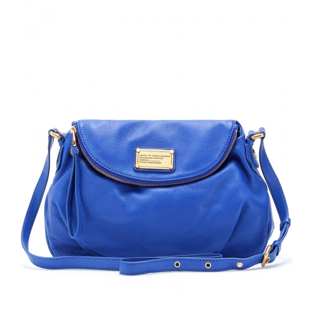 marc by marc jacobs natasha leather shoulder bag in blue. Black Bedroom Furniture Sets. Home Design Ideas