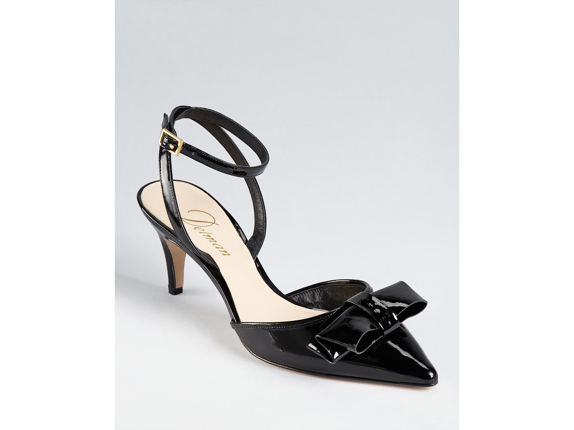 bfac158b16d Lyst - Delman Slingbacks Lyla Kitten Heel in Black