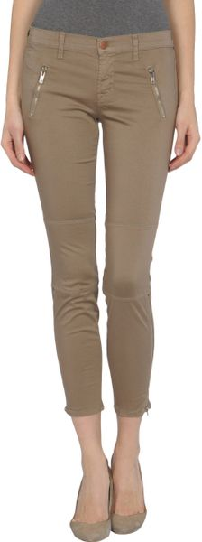 J Brand 3/4th length Trousers in Khaki - Lyst