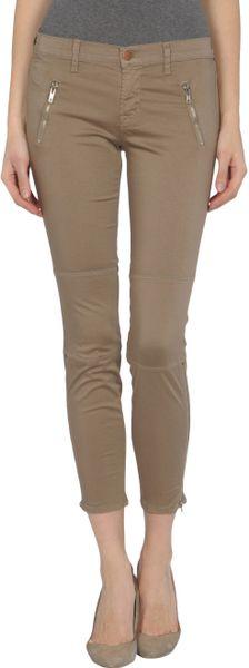 J Brand 3/4th length Trousers in Khaki