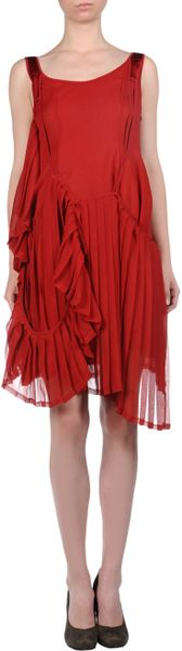 Yohji Yamamoto Short Dress in Red