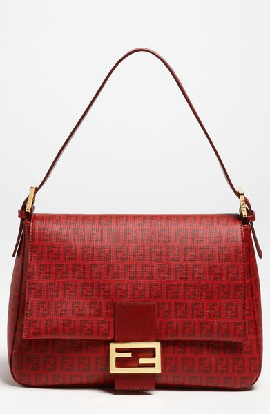 Fendi Forever Big Mamma Shoulder Bag in Red (bordeaux/gold) - Lyst