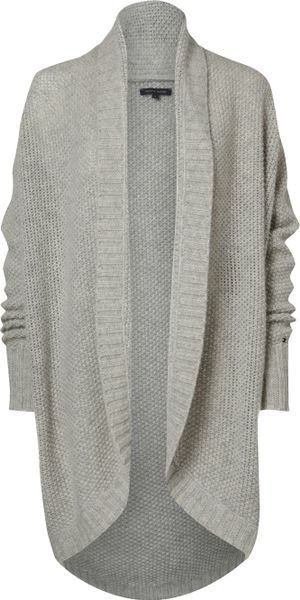 Tommy Hilfiger Olympia Cowl Neck Cardigan in Gray (grey)