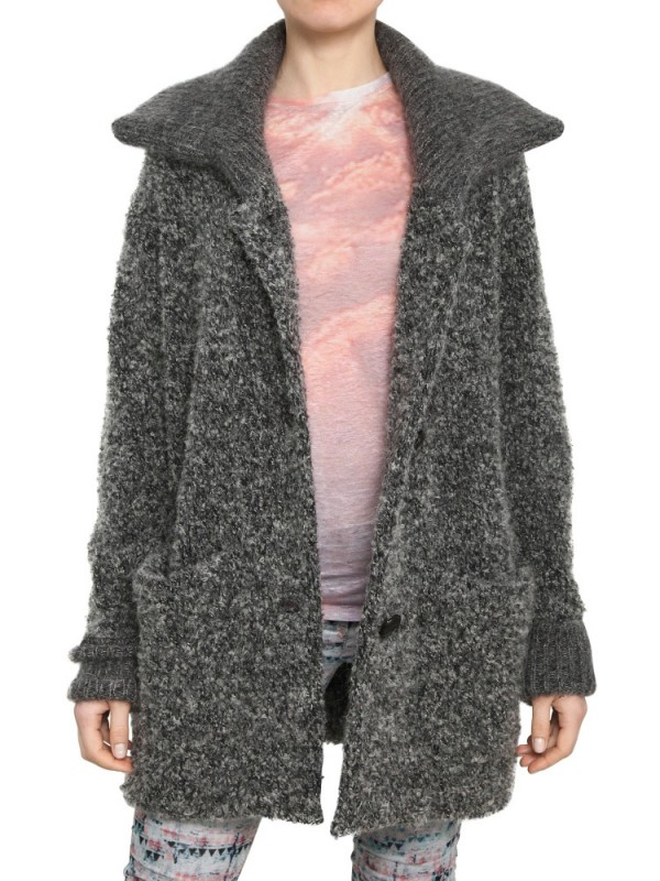 eee6dd8a69e2 Lyst - Étoile Isabel Marant Wool Boucle Knit Cardigan in Gray