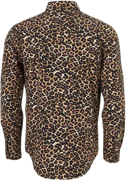 Robert Graham Designer Shirts Topman Brown Leopard P...