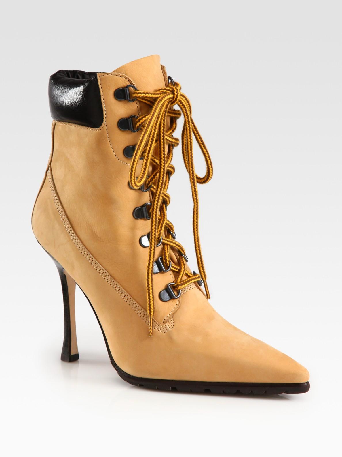 Manolo Blahnik Suede Lace-Up Ankle Boots Manchester sale online clearance get authentic jTbkGjbK3U