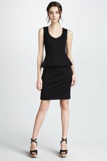Nanette Lepore Sleeveless Peplum Dress Black - Lyst