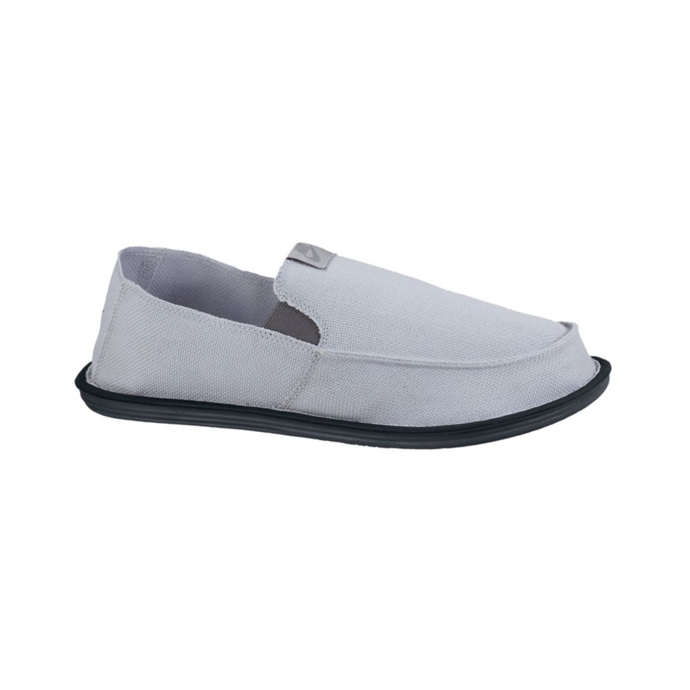 nike solarsoft lakeside slip on shoes in gray for