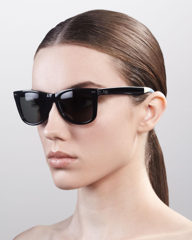 Lyst - Toms Classic 102 Sunglasses Blackgreengray in Black