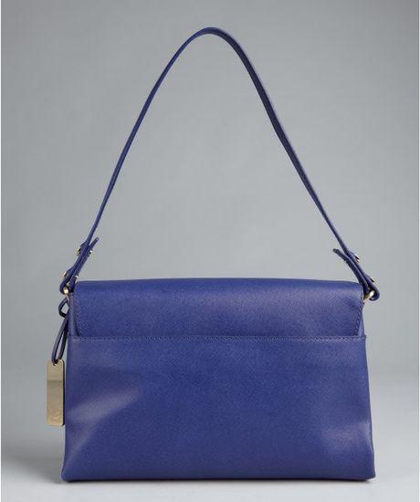 Botkier Ocean Leather Misha Foldover Shoulder Bag in Blue (ocean)