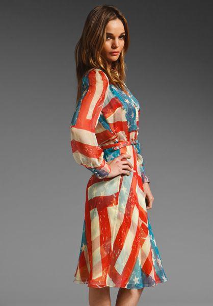 Vintage american flag catherine malandrino dress
