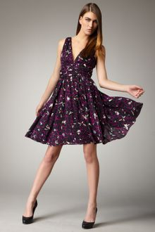 Halston Heritage Dress on Halston Heritage Dolmansleeved Wool Dress In Purple   Lyst