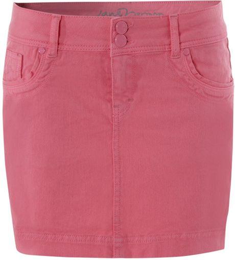norman denim mini skirt in pink lyst