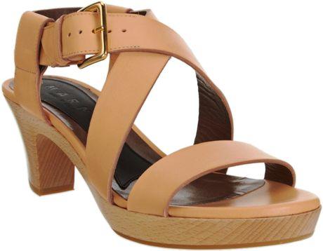 Marni Clog Sandal in Beige