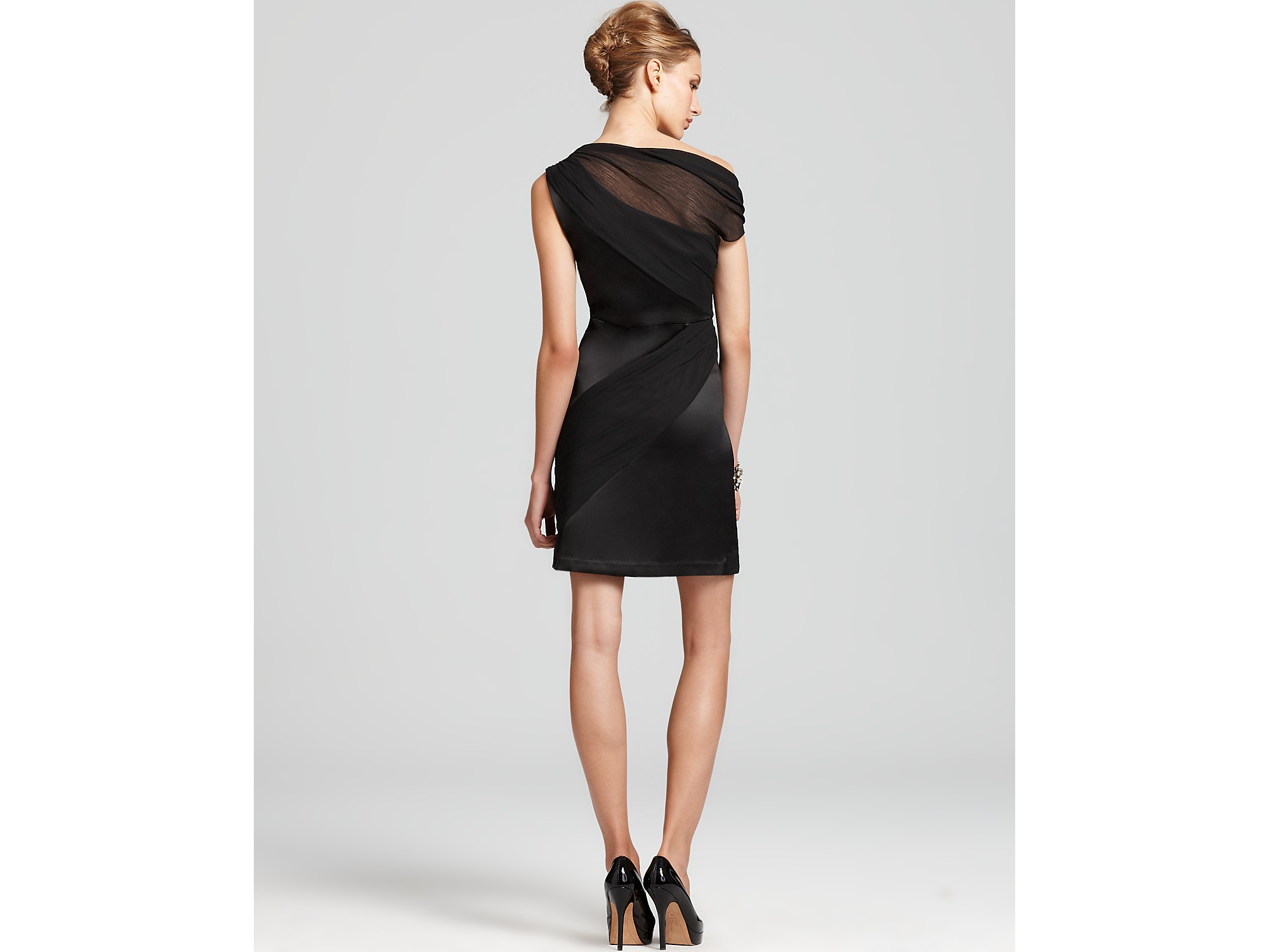 Lyst - Max & Cleo Off The Shoulder Cocktail Dress in Black