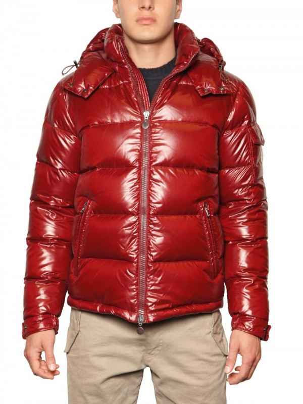 Quilted shiny hooded jacket coat sex fuck - 2 3