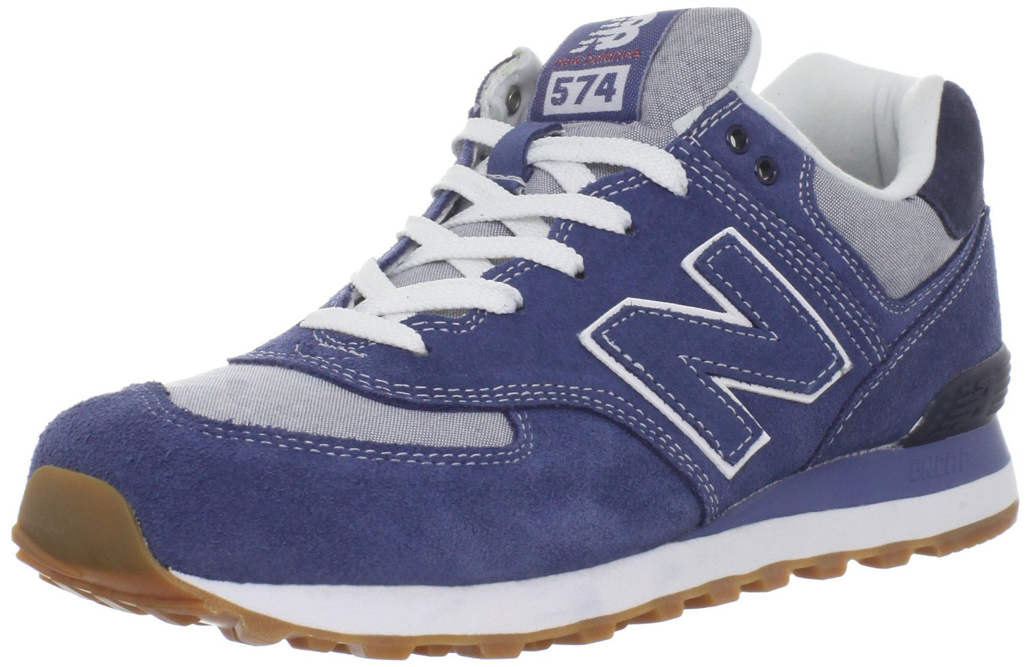 new balance new balance mens ml574 work wear laceup fashion sneaker in blue for men light blue. Black Bedroom Furniture Sets. Home Design Ideas
