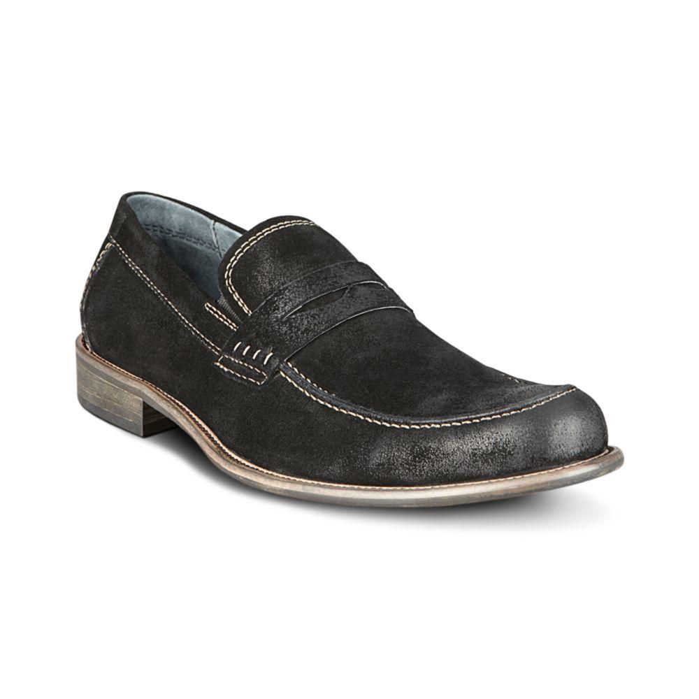 Steve Madden Blaike Loafers in Black for Men (black suede ...