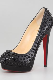 Christian Louboutin Alti Spiked Red Sole Pumps - Lyst