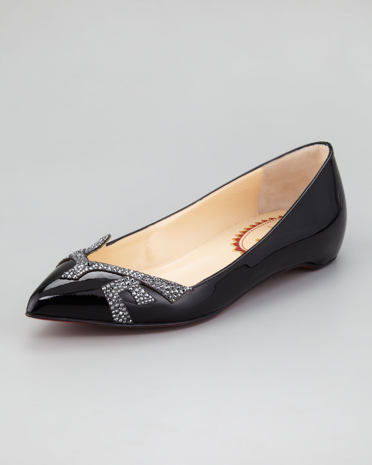 Christian Louboutin Pigalove Patent Leather Crystalcoated