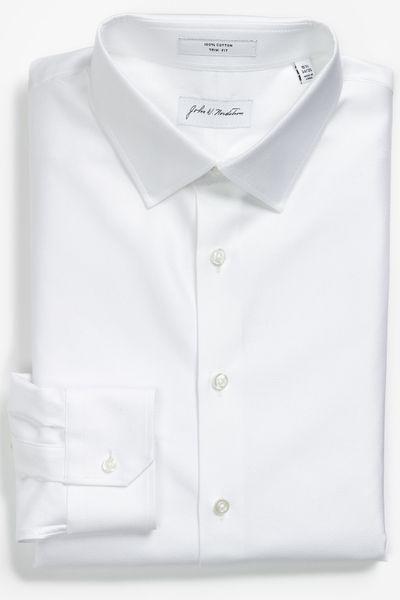 John W. Nordstrom® Trim Fit Dress Shirt in White for Men