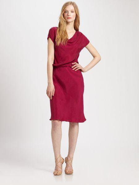 Josie Natori Cowl Neck Dress in Red (black) - Lyst