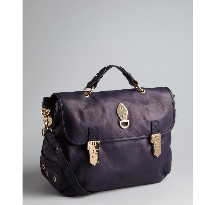 ... promo code for lyst mulberry nightshade blue leather oversized tillie  satchel in blue c9b26 44b6a ... 8c0f96fc7e