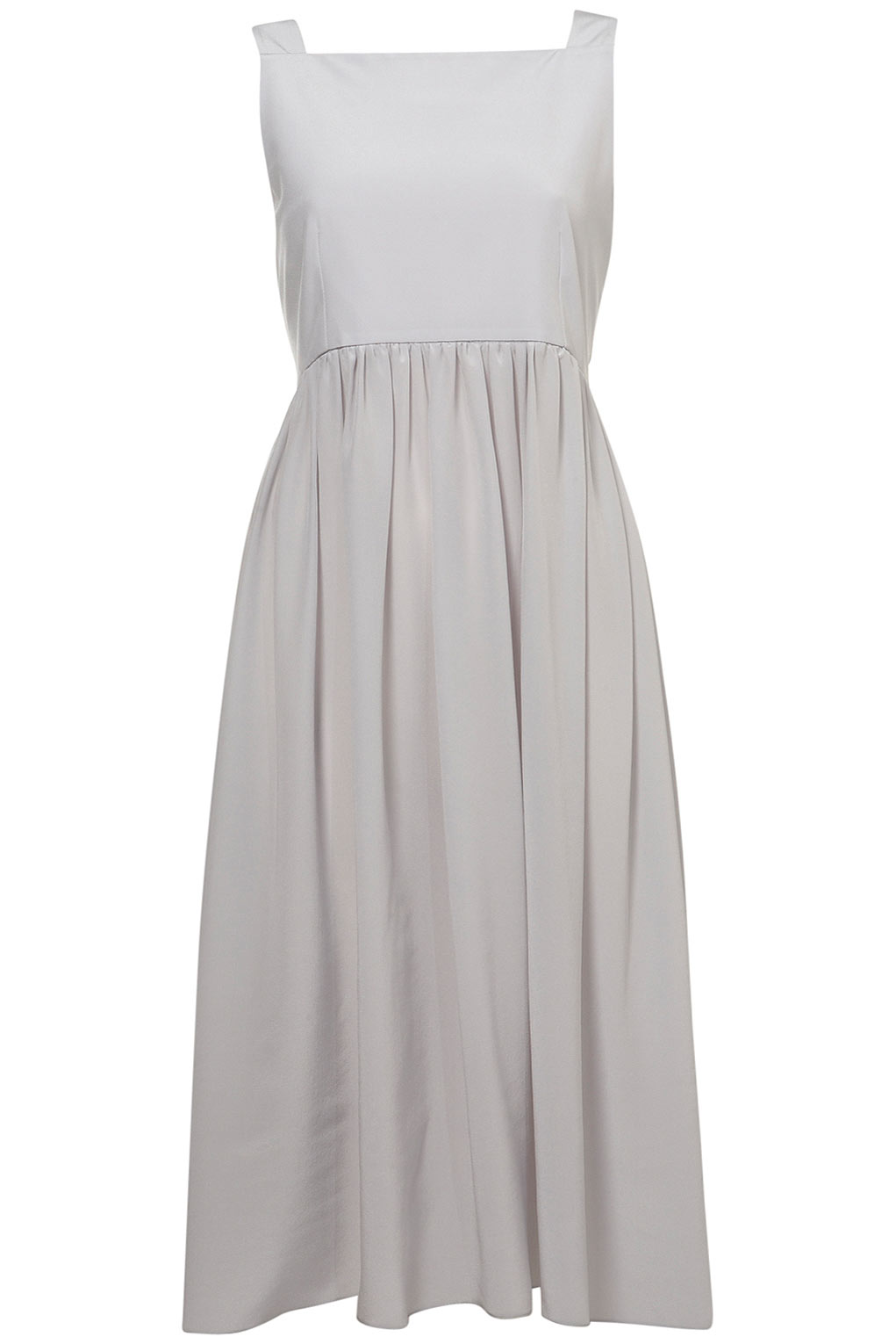 TOPSHOP Amish Pini Dress By Boutique in Light Grey (Gray