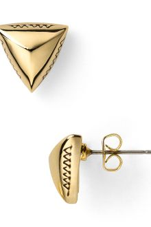 House Of Harlow Engraved Pyramid Stud Earrings - Lyst