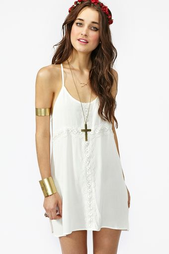 Nasty Gal Crochet Cross Dress Ivory - Lyst
