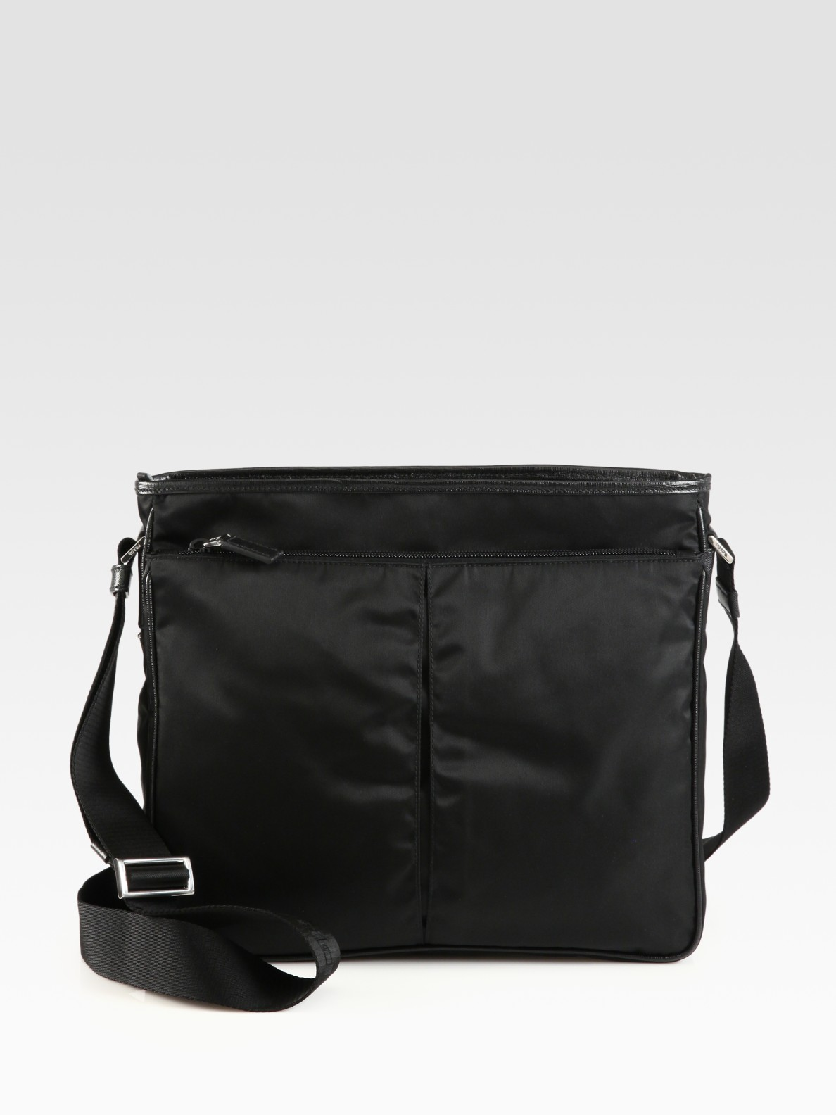 Prada Nylon Large Crossbody Bag In Black For Men Lyst