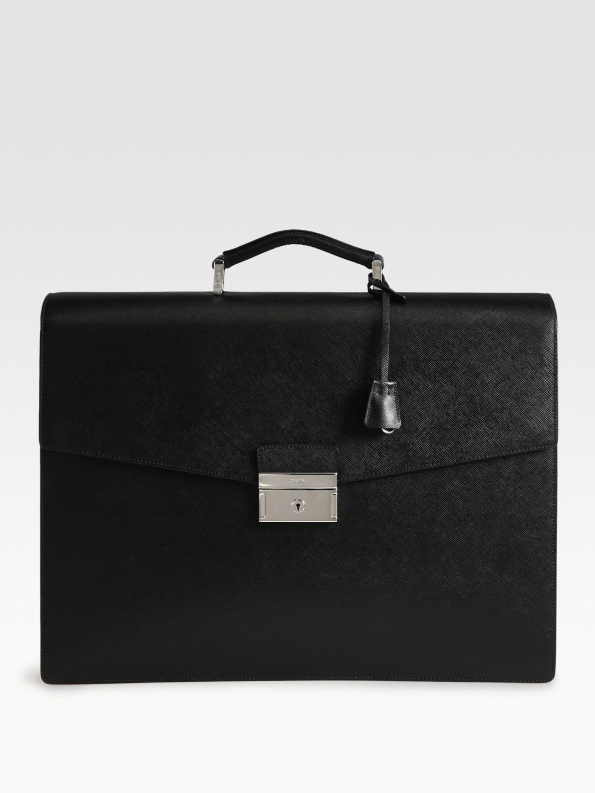 Prada Saffiano Leather Briefcase In Black For Men Lyst