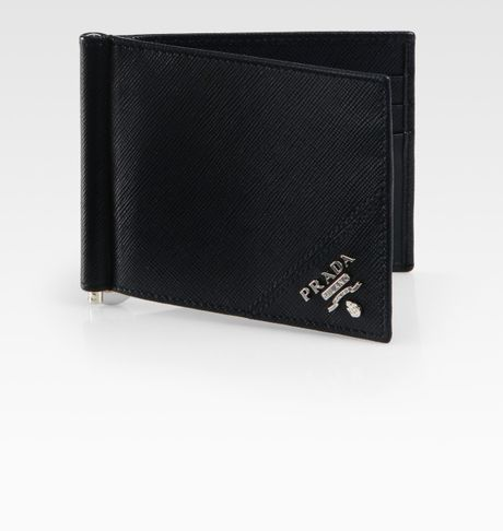 Prada money clip wallet