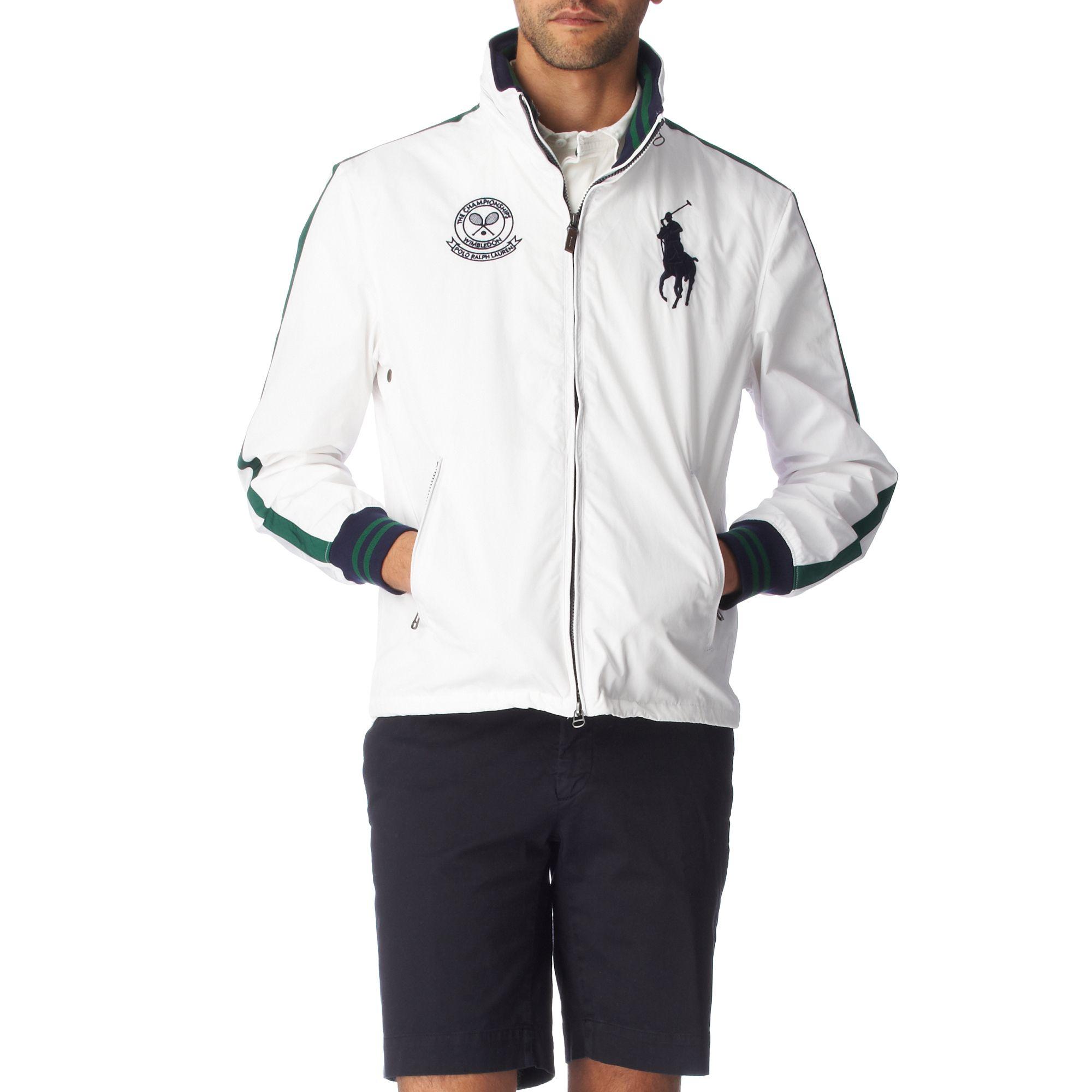 Ralph For Windbreaker Wimbledon White Cole Jacket Men Lauren In Lyst 08wOPnk