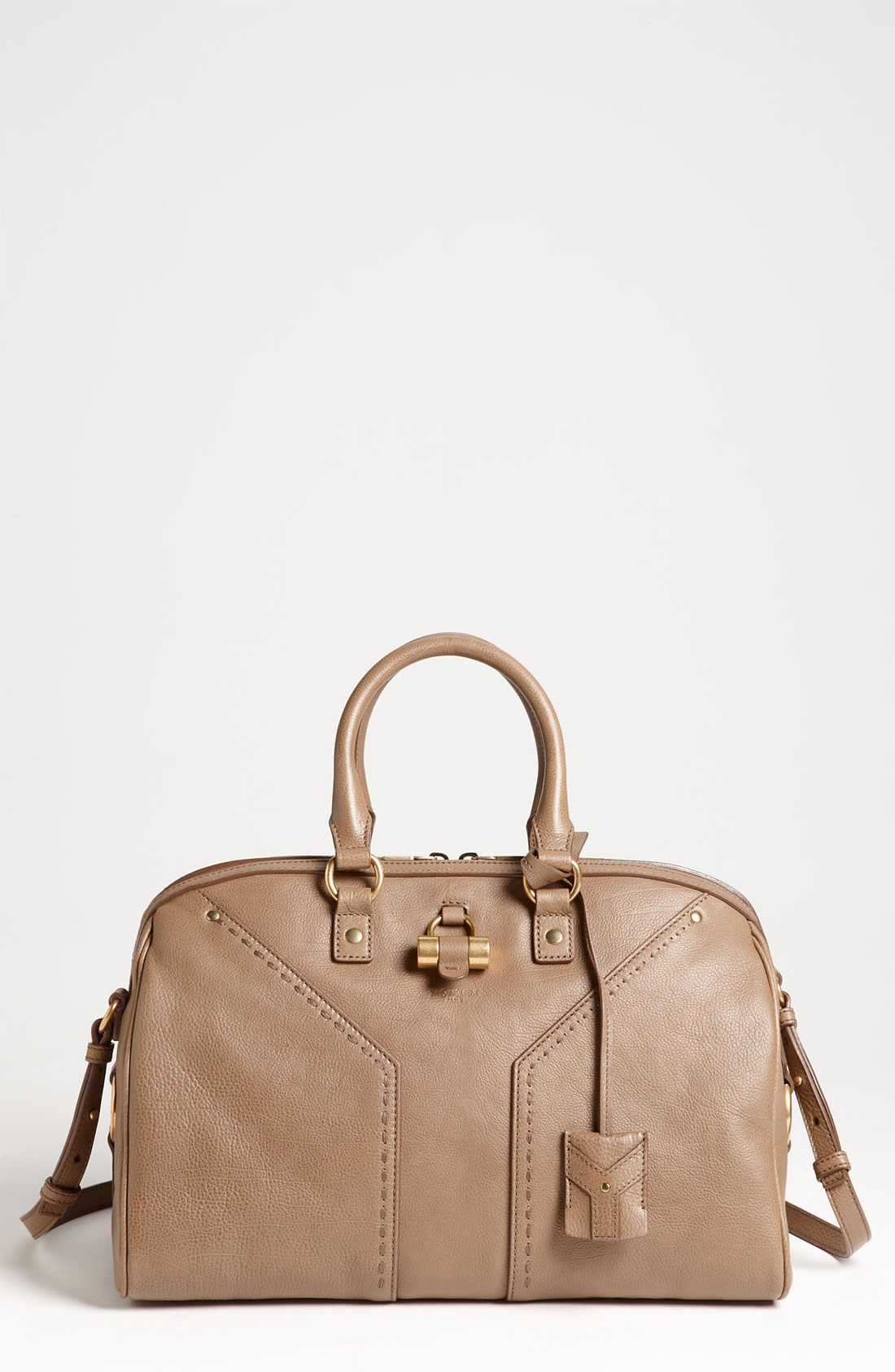 Saint laurent Muse Leather Satchel in Beige (dove beige) | Lyst