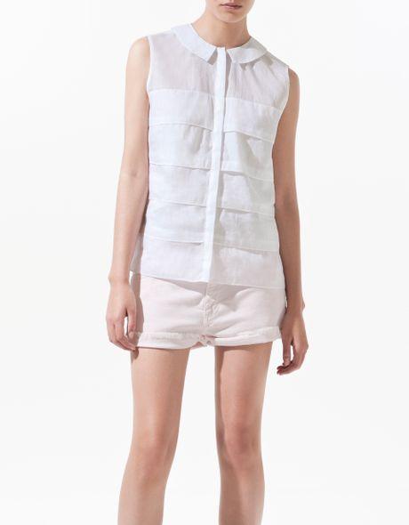 Zara Peter Pan Collar Blouse 36