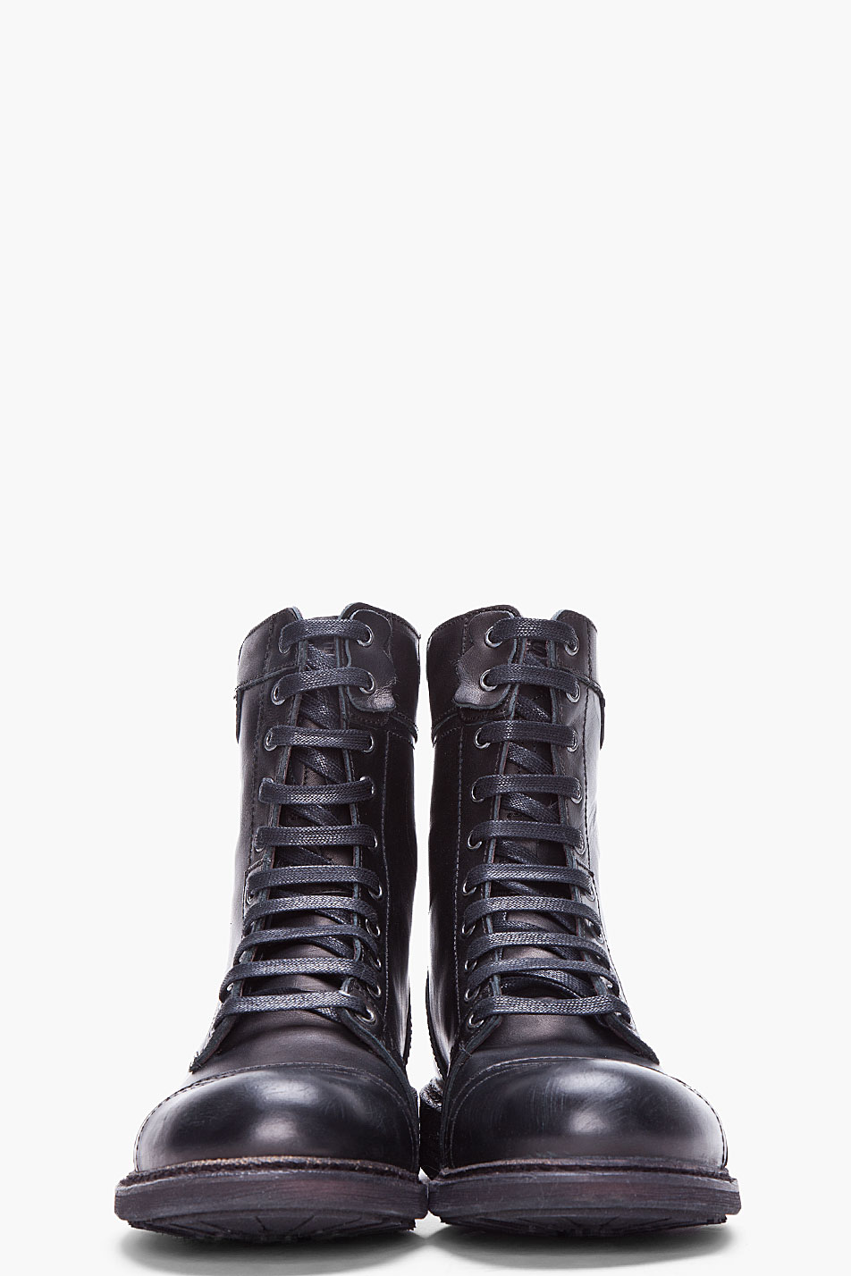 3c1b2dea6b2 DIESEL Black Cassidy Military Boots for men