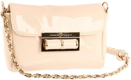 Ivanka Trump Topaz Shoulder Flap Bag in Pink (ivory)